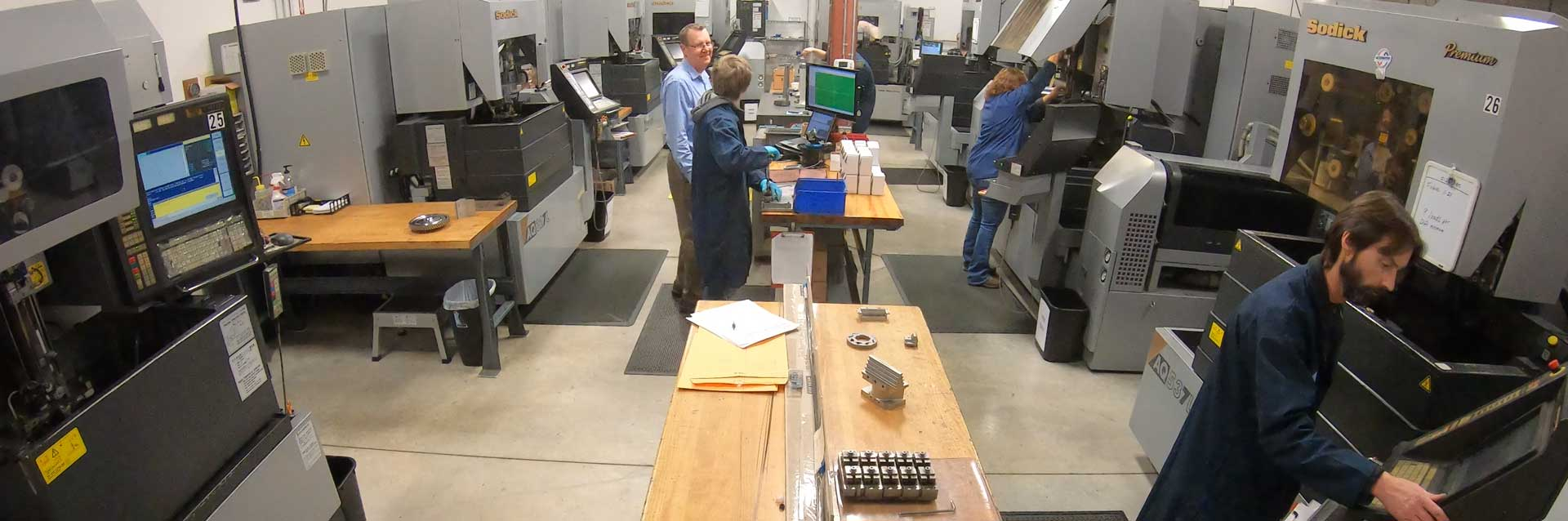 interior view of electrical discharge machining facilities