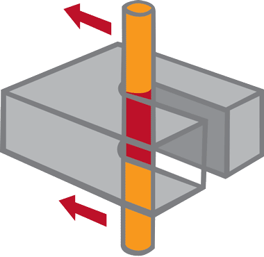 an illustration of the wire cutting process